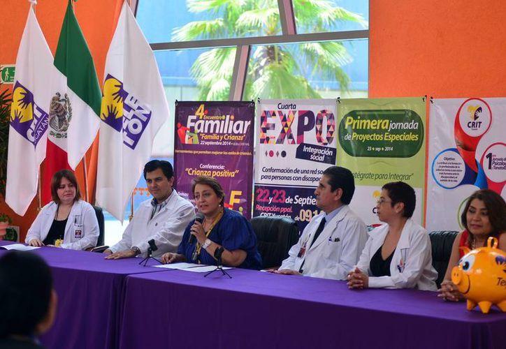 Conferencia de prensa donde se informó de la jornada de inclusión se llevará a cabo en las instalaciones del CRIT y el HRAE. (Milenio Novedades)