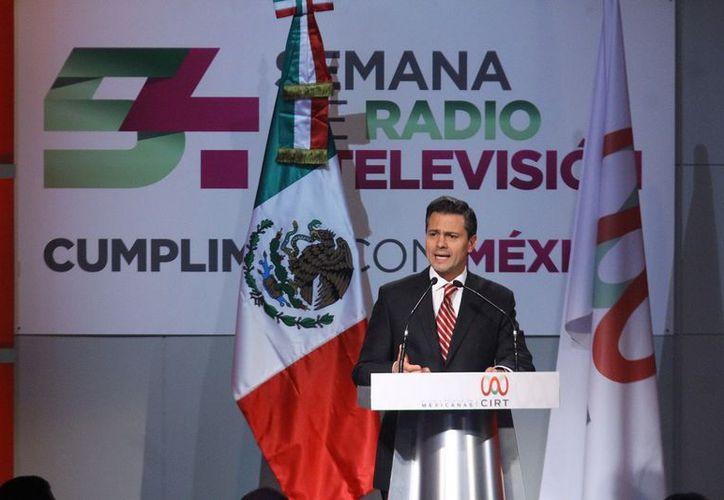 Peña Nieto puntualizó el crecimiento económico sostenido e impulsar a México como una potencia energética. (Archivo/Notimex)