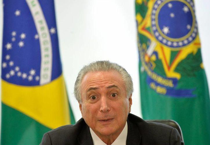 El presidente brasileño Michel Temer podría ser apartado del poder en caso de que se abra un proceso de juicio político en su contra. (EFE)