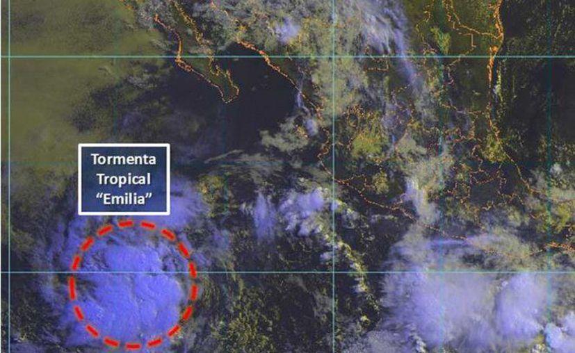La tormenta tropical se desplaza hacia el oeste-noroeste. (Twitter)