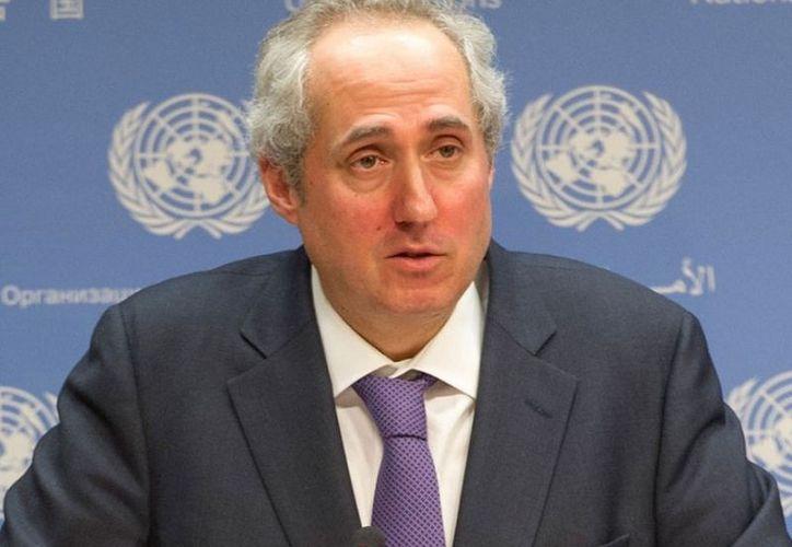Stéphane Dujarric, portavoz del secretario general de la Organización de las Naciones Unidas, (Foto: Twitter)