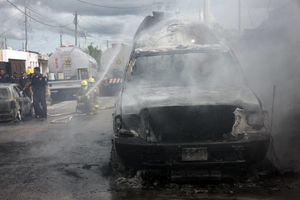 Estalla pipa de gas frente a tortillería, en Mérida