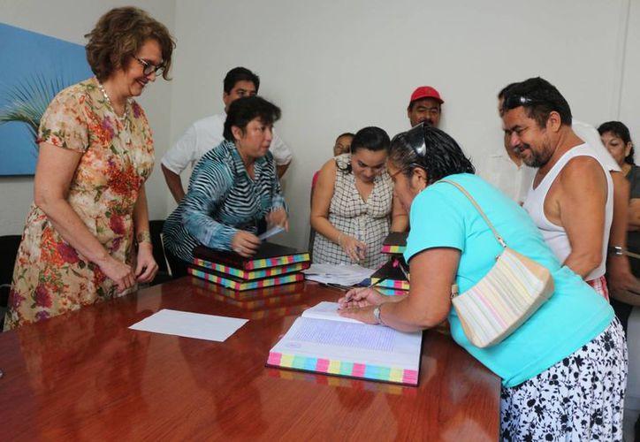 La Desarrolladora de la Riviera Maya entregó 100 escrituras. (Adrián Barreto/SIPSE)