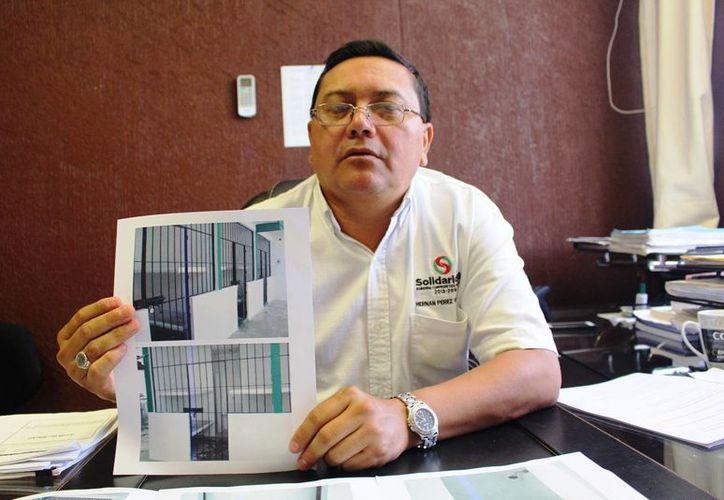 Hernán Pérez Vega, director de Gobierno de Solidaridad, dijo que 32 internas compartían dos celdas en el Centro de Retención Municipal. (Luis Ballesteros/SIPSE)