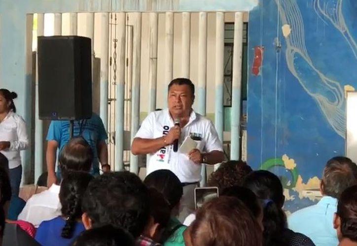 Marciano Dzul se mostró 'agradecido' con el apoyo y las muestras de 'cariño' de la población de Tulum. (SIPSE)