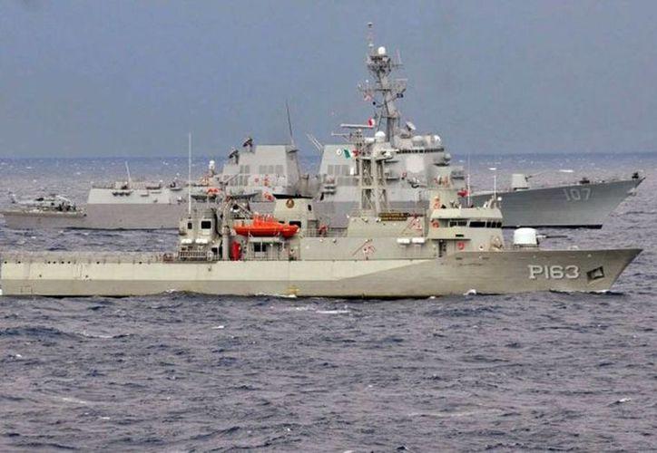 El buque patrulla Independencia atracó este jueves en el puerto de Progreso. (SIPSE)