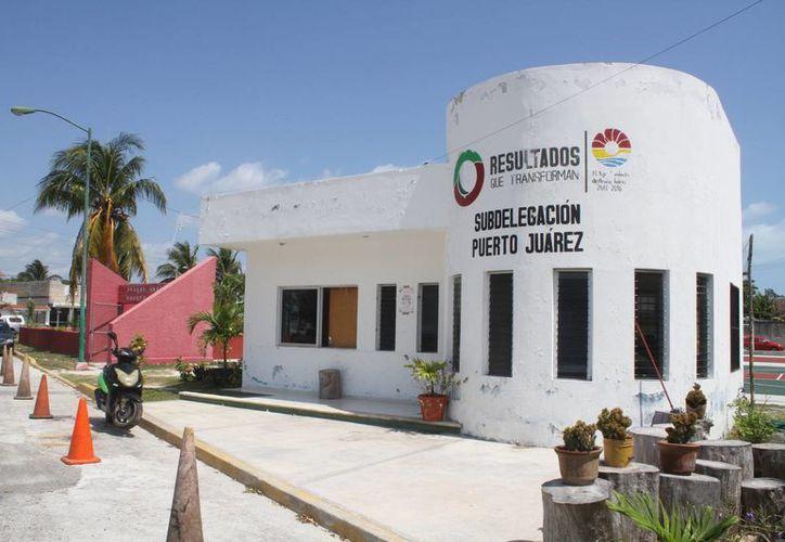 La pequeña estación de la Policía de Puerto Juárez. (Sergio Orozco/SIPSE)