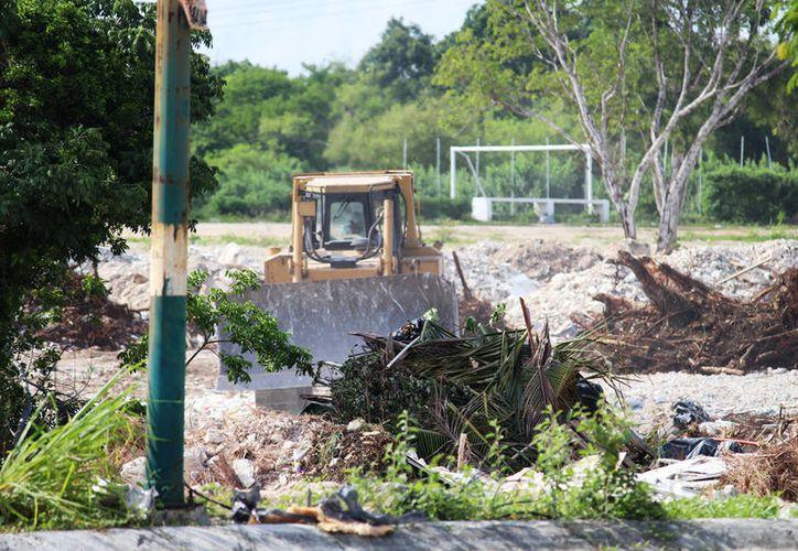 Trabajadores consultados dijeron que sólo están realizando labores pedidas por los encargados de la obra. (Adrián Barreto/SIPSE)