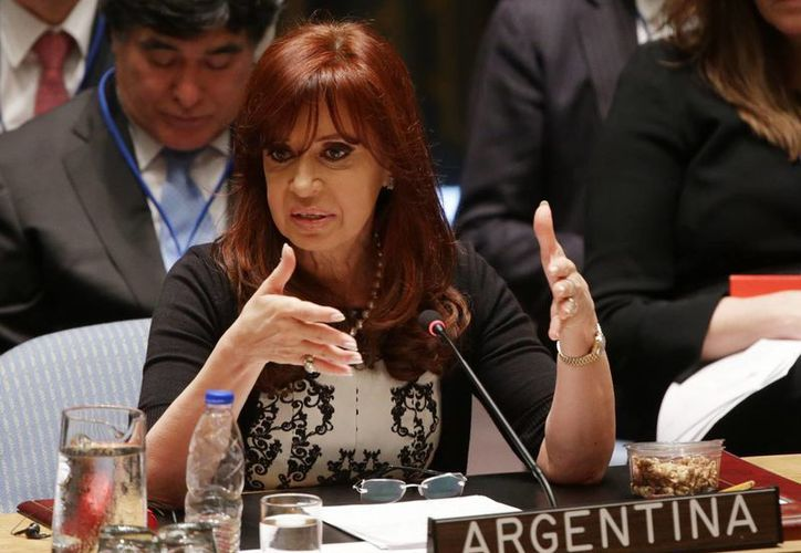 La presidenta de Argentina pidió que el terrorismo se combata con la paz, y no con más guerras. (EFE)