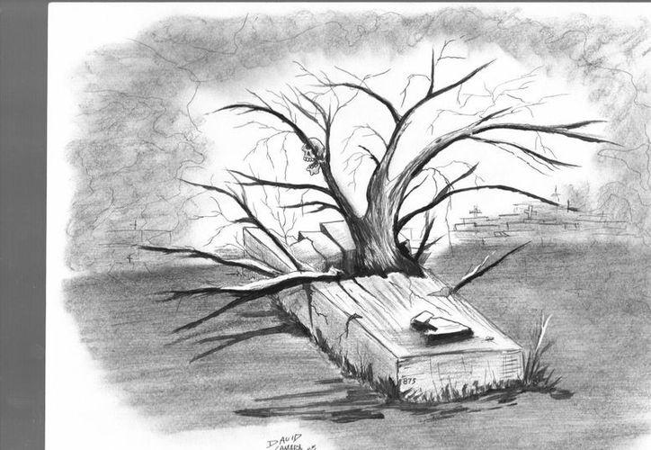 El papá del joven tomó el crecimiento del árbol en la tumba de su hijo como una señal de que lo había perdonado. (Jorge Moreno/SIPSE)