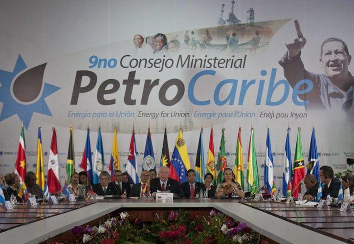 Vista general del noveno Consejo Ministerial Petrocaribe, que comenzó en Caracas el sábado. (EFE)
