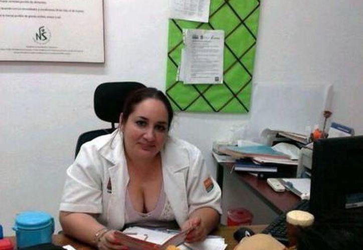 María Eugenia Marrufo Piña, nutrióloga de la Unidad de Especialidades Médicas para Enfermos Crónicos. (Redacción/SIPSE)