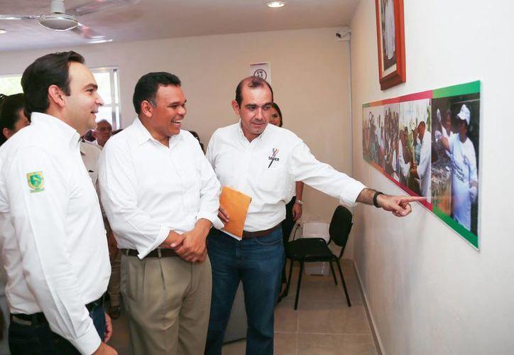 El gobernador Rolando Zapata (c) abanderará a deportistas olímpicos yucatecos este jueves. (SIPSE)