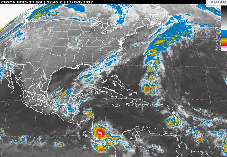Se pronostican tormentas fuertes en Yucatán y Quintana Roo. (Foto: SMN)