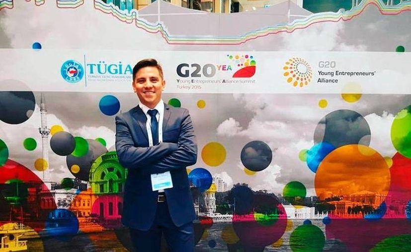 Rusel González Morales viajó a China, como parte de la delegación de jóvenes empresarios. (Cortesía)