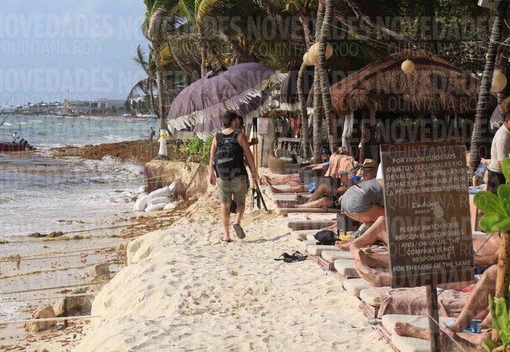 Cada año los destinos turísticos pierden metros de playas. (Adrián Barreto/SIPSE)