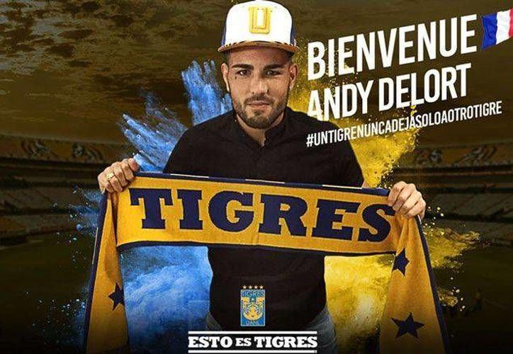Andy Delort formará una dupla francesa histórica con Gignac en Tigres de la UANL. (Foto: @TIGRESOFICIAL)