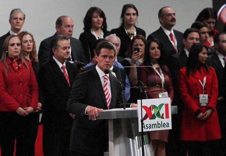 Peña Nieto durante la 21 Asamblea Ordinaria del PRI. (Notimex/Archivo)