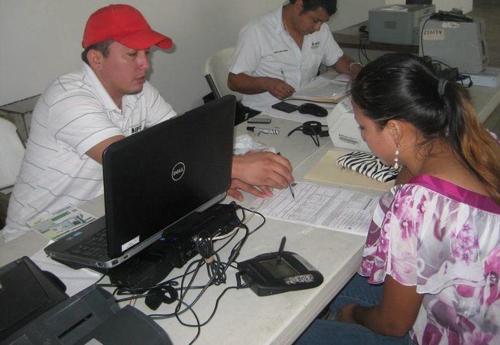 Los días 27, 28 y primero de marzo, el módulo de atención ciudadana estuvo entregando credenciales. (Javier Ortiz/SIPSE)
