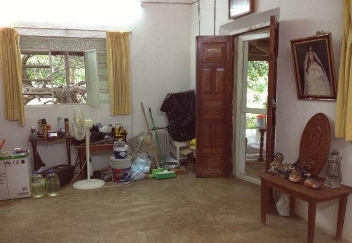 La sala o cuarto principal del rancho Cheen Pato, hoy de la familia Cervera Hernández.