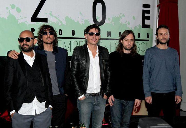 """El concierto """"081114"""" que la banda de rock Zoé ofreció en el Foro Sol el 8 de noviembre del 2014 será proyectado en distintas salas de cine del país. (Archivo Notimex)"""