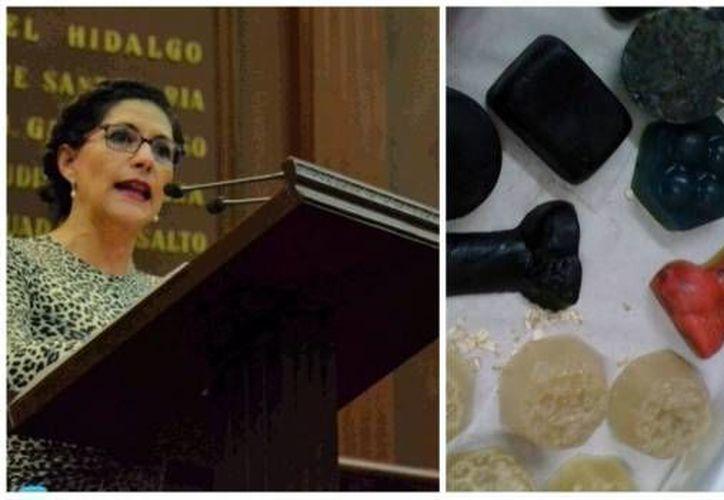 En diciembre pasado, la diputada  Socorro Quintana inauguró su casa de gestión en Uruapan Michoacán. Según asistentes, en el evento la legisladora colocó sobre una mesa de madera gelatinas, dulces y chocolates, además de productos de estimulación sexual. (Imagen tomada de sdpnoticias.com)