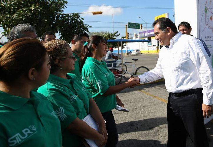 El secretario de Gobierno, Víctor Caballero Durán, puso en marcha los trabajos técnicos del Situr. (SIPSE)