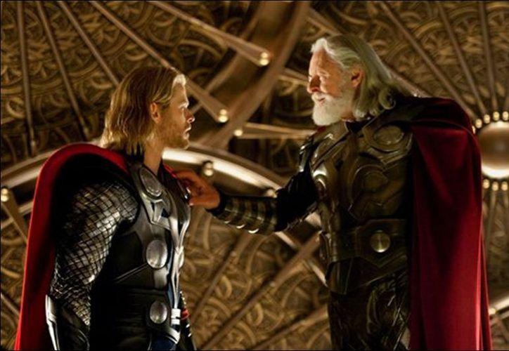 Entre los últimos filmes protagonizados por Anthony Hopkins está 'Thor,' con Chris Hemsworth, donde encarna a 'Odín'. (thor-lapelicula.es)