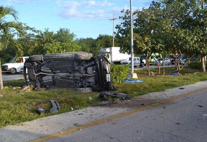 Dos peatones perdieron la vida al ser atropellados por un conductor ebrio. (Redacción/SIPSE)