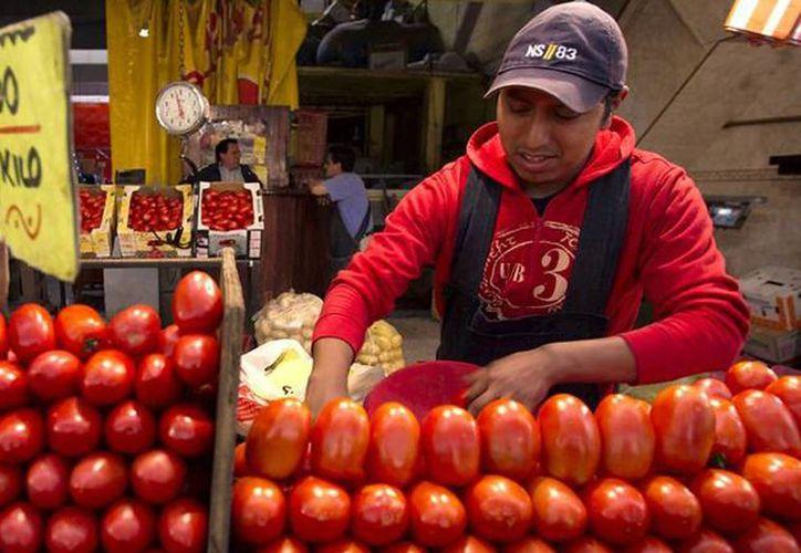El precio del tomate subió 'como espuma', se vende hasta en 34 pesos el kilo. Existe variación de precio en la canasta básica en la semana del 15 al 19 de diciembre. (Archivo/Notimex)