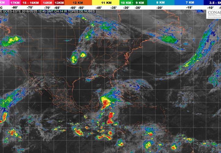 Durante el día de hoy se esperan tormentas en Chetumal. (Conagua)