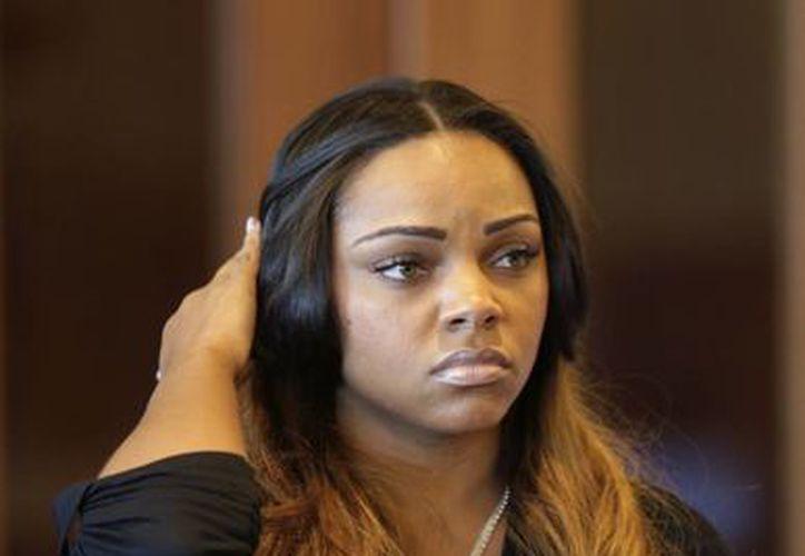 Shayanna Jenkins durante la audiencia en la corte. (Agencias)