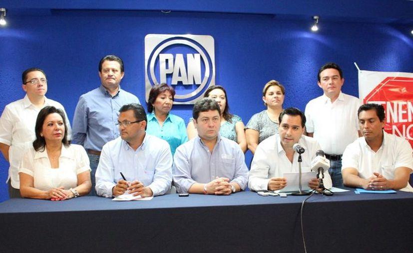 Diputados y dirigentes del Partido Acción Nacional. (SIPSE)