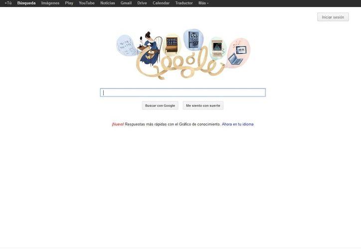 """El doodle de este lunes representa la figura de la también llamada """"encantadora de números"""". (Google)"""