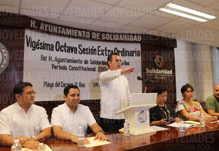 Sesión extraordinaria del Cabildo de Solidaridad. (Adrián Barreto/SIPSE)