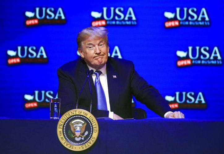 Las declaraciones de Trump, suponen un paso más en sus duras propuestas contra la inmigración irregular. (AP)