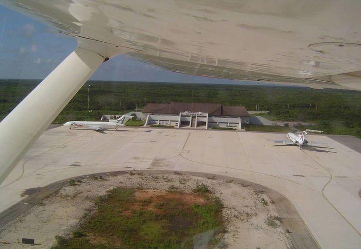 El aeropuerto de Chichén, que será reactivado, es considerado clave para el desarrollo económico de la región. (SIPSE)
