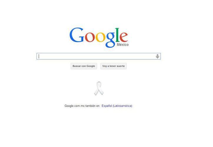la empresa de Mountain View puso la  insignia debajo de su espacio buscador. (google.com.mx)
