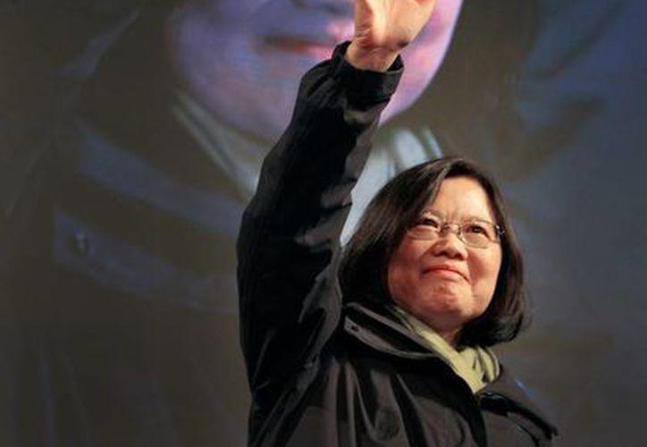 Taiwán eligió por primera vez a una mujer como presidente:Tsai Ing-wen. (AP)