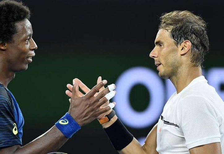 El tenista francés Gael Monfils derrotó al georgiano Nikoloz Basilashvili. (AP)