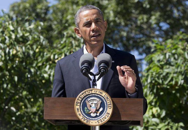 Obama habló sobre Egipto desde Massachusetts, donde pasa sus vacaciones. (agencias)