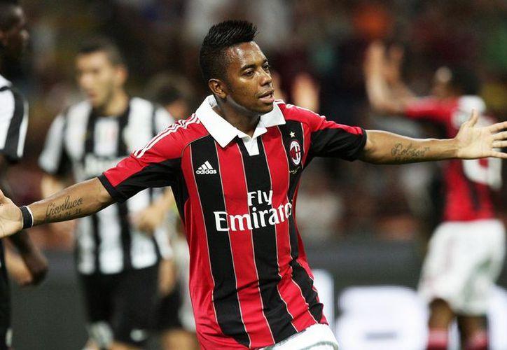 El delantero brasileño del AC Milán, Robinho. (Archivo/EFE)