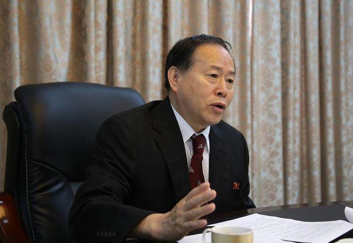Han Song Ryol es responsable del departamento de asuntos estadounidenses en el Ministerio norcoreano de Exteriores. (AP)