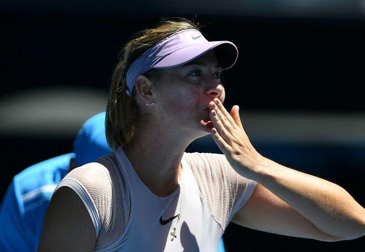 La tenista rusa disfrutó de cada momento en su victoria. (elespectador.com)