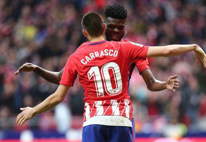 Atlético de Madrid supo descifrar el planteamiento defensivo que le puso el cuadro de Las Palmas. (Twitter)