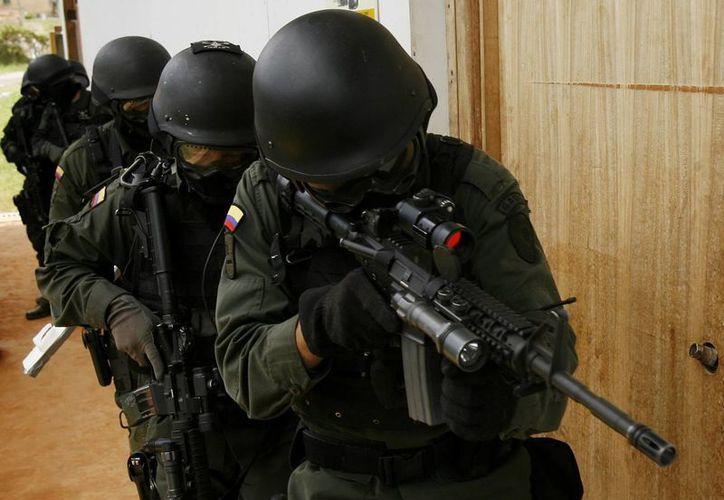 Miembros del Grupo Antisecuestro de Colombia (GAULA). (Archivo/EFE)