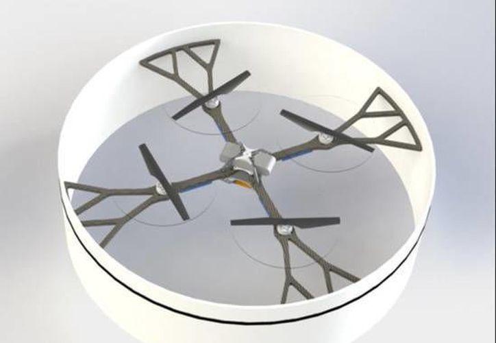 En su primer vuelo este modelo de drone fue atado a un poste fijo en el centro de una habitación y alcanzó una velocidad de 10.4 metros por segundo. (Ansa)