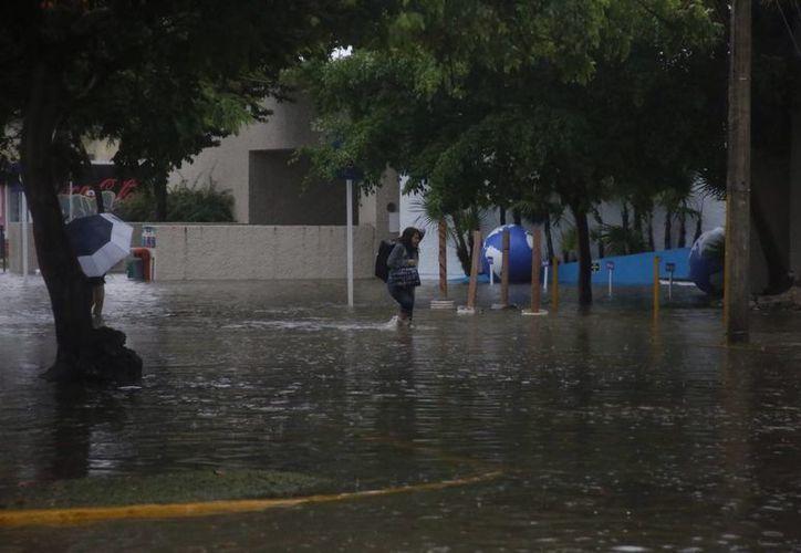 Los días 13 y 14 de junio se registraron fuertes lluvias en Benito Juárez, que ocasionaron severas inundaciones. (Israel Leal/SIPSE)