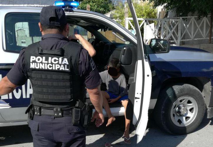 El responsable del ataque fue llevado al Ministerio Público. (Foto: Redacción)