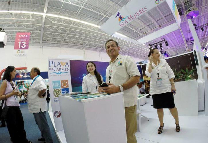 Durante el primer día de citas de negocios, la Asociación de Hoteles de la Riviera Maya afirmó que su apuesta es por la conquista del mercado sudamericano.  (Adrián Monroy/SIPSE)
